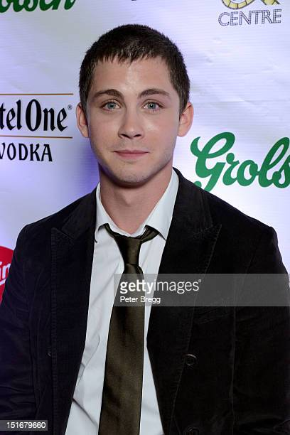 Actor Logan Lerman attends the 'Writers' Post Premiere Reception at the Virgin Mobile Arts Cinema Centre at the 2012 Toronto International Film...