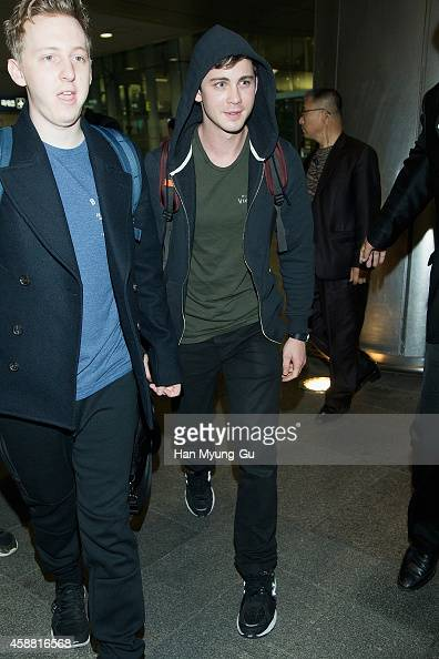 Actor Logan Lerman is seen upon arrival at Incheon International Airport on November 12 2014 in Incheon South Korea