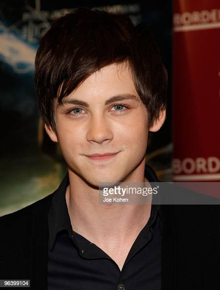 Actor Logan Lerman promotes 'Percy Jackson And The Olympians The Lightning Thief' at Borders Kips Bay on February 3 2010 in New York City