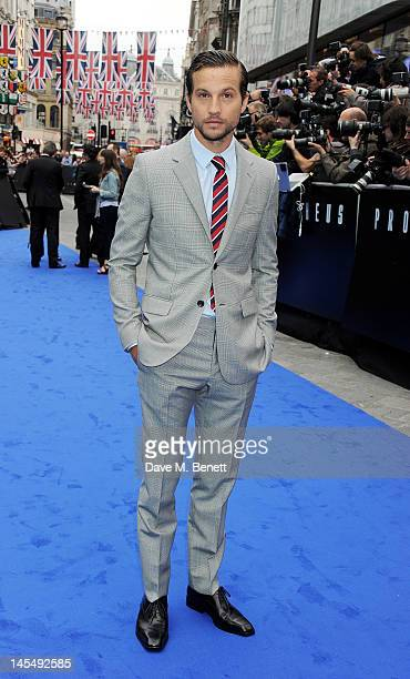 Actor Logan MarshallGreen attends the World Premiere of 'Prometheus' at Empire Leicester Square on May 31 2012 in London England