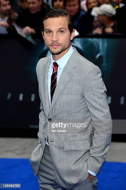 Actor Logan MarshallGreen attends the world premiere of 'Prometheus' at the Empire Leicester Square on May 31 2012 in London England