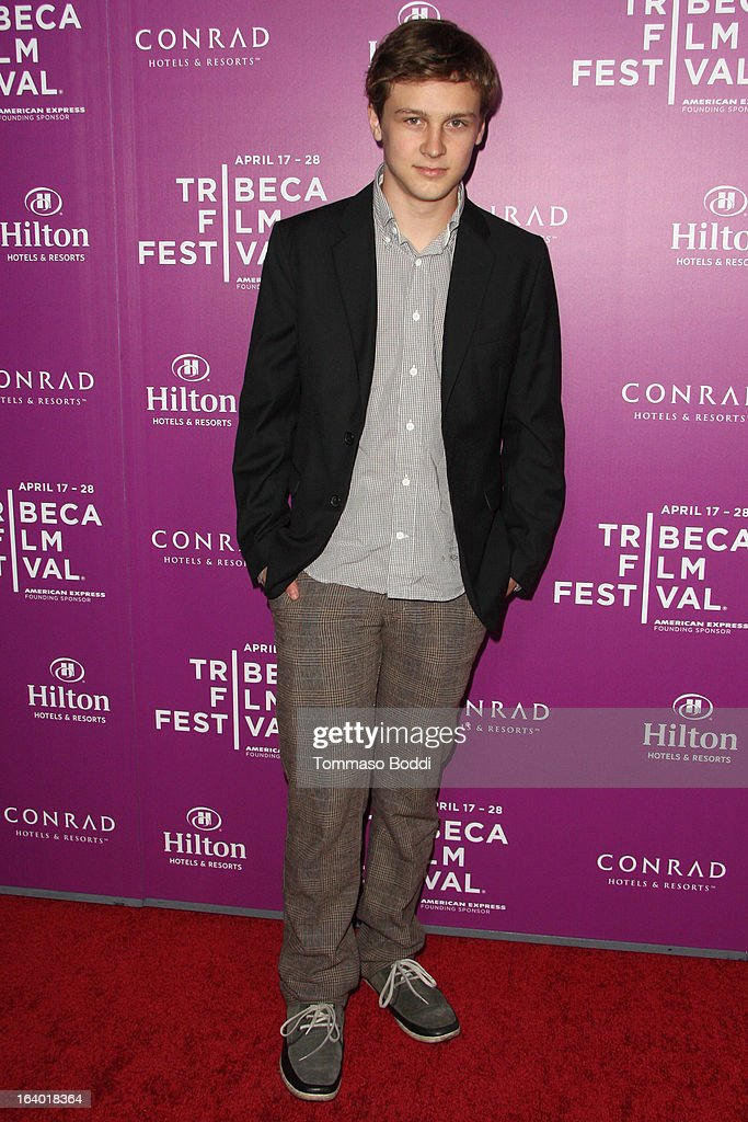 Actor Logan Miller attends the 5th annual Tribeca Film Festival 2013 LA reception held at The Beverly Hilton Hotel on March 18, 2013 in Beverly Hills, California.