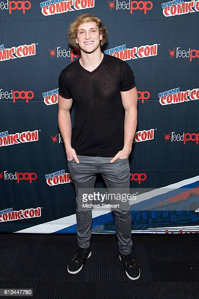 Actor Logan Paul attends 'The Thinning' Movie Panel Advance Screening press room during 2016 New York Comic Con at the Jacob Javitz Center on October...