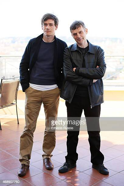 Actor Loic Corbery and director Lucas Belvaux attend the 'Sara' Il Mio Tipo' photocall at Hotel Bernini on April 8 2015 in Rome Italy