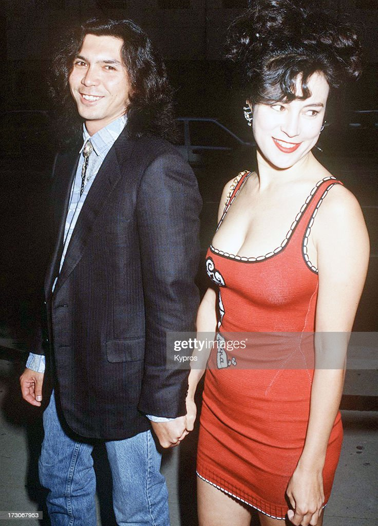 Actor Lou Diamond Phillips and his girlfriend actress Jennifer Tilly 1992