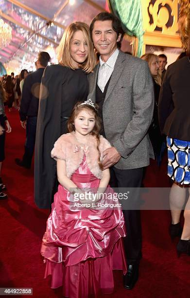 """Actor Lou Diamond Phillips and Lisa McCune attend the World Premiere of Disney's """"Cinderella"""" Kenneth Branagh's breathtaking liveaction feature at..."""