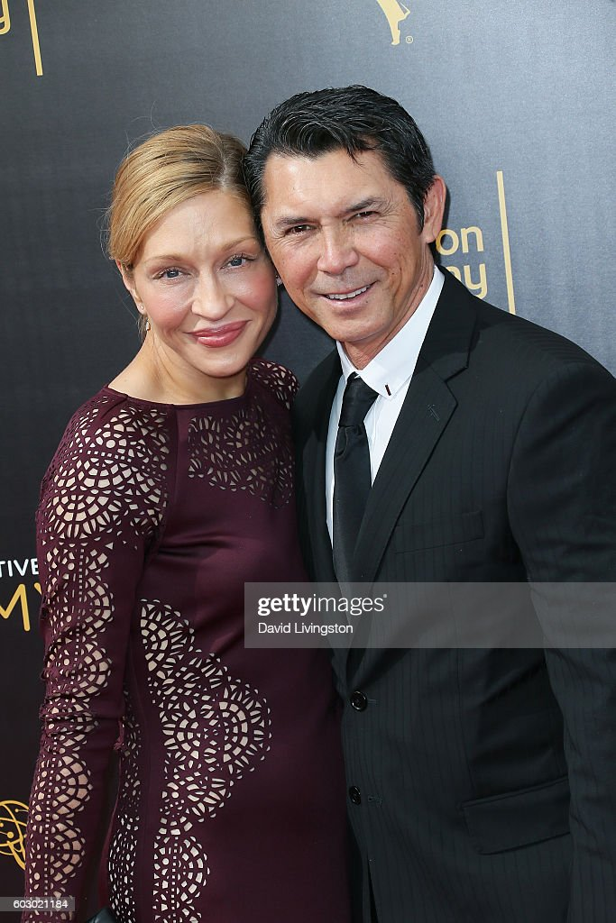 Actor Lou Diamond Phillips (R) and Yvonne Boismier Phillips attend the 2016 Creative Arts Emmy Awards Day 2 at the Microsoft Theater on September 11, 2016 in Los Angeles, California.
