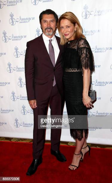 Actor Lou Diamond Phillips and Yvonne Phillips attend the 32nd Annual Imagen Awards at the Beverly Wilshire Four Seasons Hotel on August 18 2017 in...