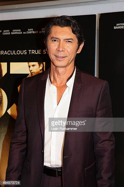 Actor Lou Diamond Phillips attends the Washington DC premiere of 'The 33' at The Newseum on October 27 2015 in Washington DC