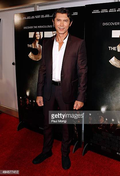 Actor Lou Diamond Phillips attends the Washington DC premiere of the film 'The 33' at The Newseum on October 27 2015 in Washington DC