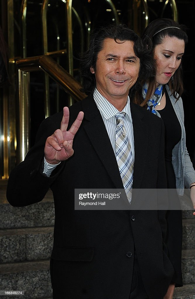 Actor <a gi-track='captionPersonalityLinkClicked' href=/galleries/search?phrase=Lou+Diamond+Phillips&family=editorial&specificpeople=214756 ng-click='$event.stopPropagation()'>Lou Diamond Phillips</a> is seen outside the Trump Hotel on May 8, 2013 in New York City.