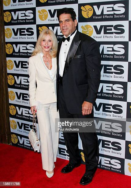 Actor Lou Ferrigno and his wife Carla Green attend the 10th annual Visual Effects Society Awards at The Beverly Hilton hotel on February 7 2012 in...