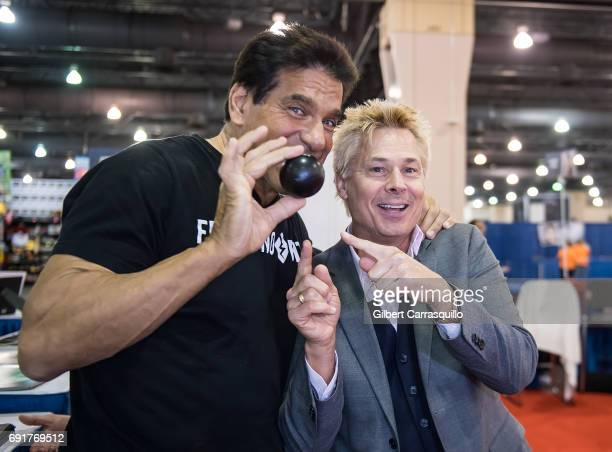 Actor Lou Ferrigno and Kato Kaelin attend Wizard World Comic Con Philadelphia 2017 Day 2 at Pennsylvania Convention Center on June 2 2017 in...
