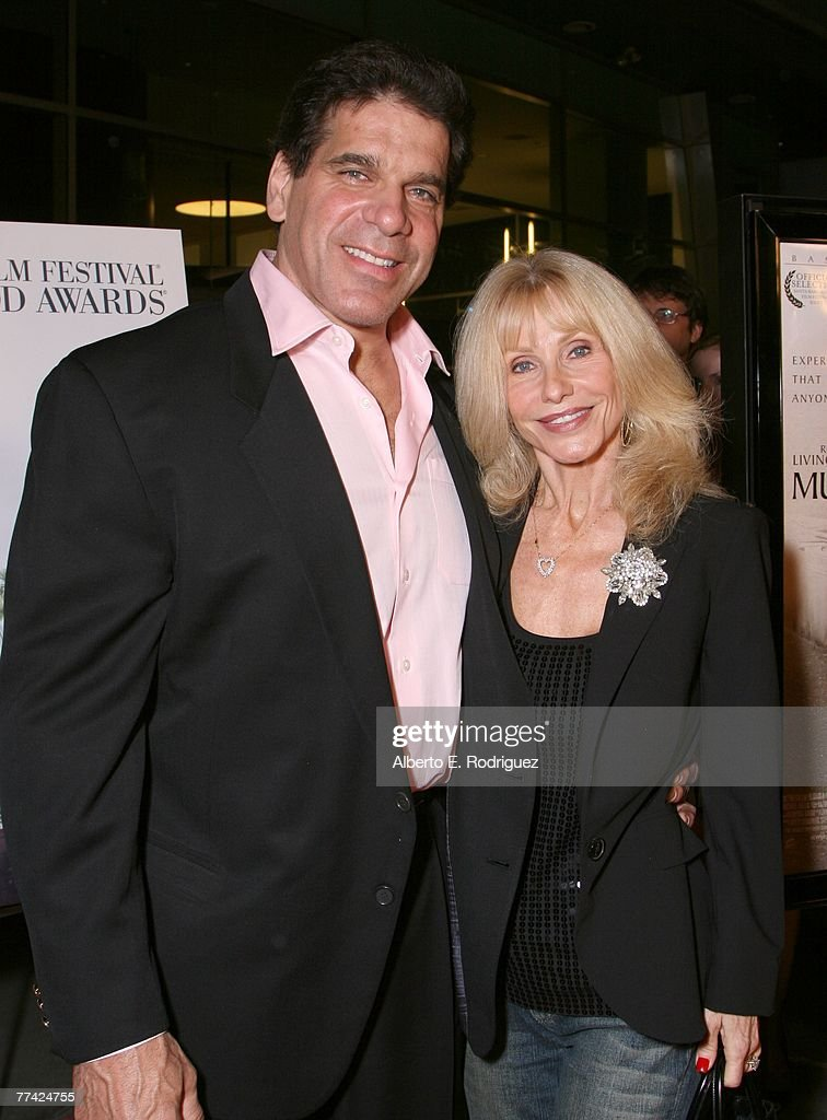 Actor Lou Ferrigno and wife Carla arrive at the premiere of MGM's 'Music Within' held at the Arclight Theaters on October 19, 2007 in Los Angeles, California.