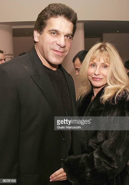 Actor Lou Ferrigno and wife Carla Green attend the 13th Annual Night of 100 Stars Oscar Viewing Black Tie Gala February 29 2004 at the Beverly Hills...