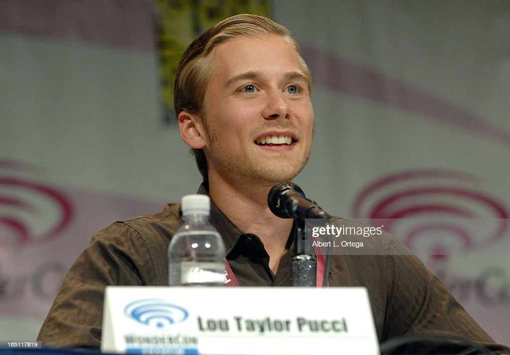 Actor Lou Taylor Pucci promotes 'Evil Dead' on the Sony panel at WonderCon Anaheim 2013 - Day 2 at Anaheim Convention Center on March 30, 2013 in Anaheim, California.