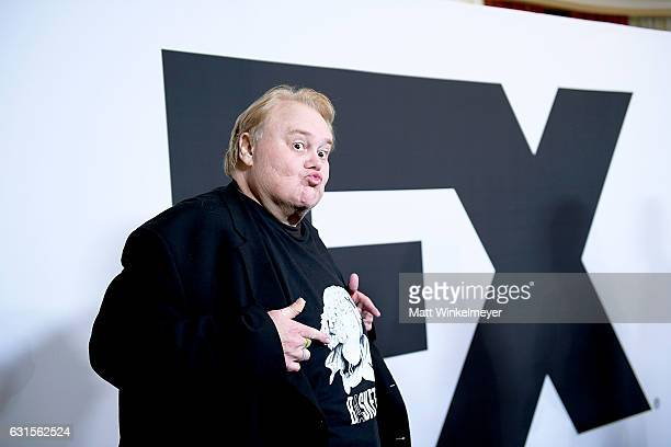 2017 Actor Louie Anderson arrives at the Winter TCA Tour FX Starwalk at Langham Hotel on January 12 2017 in Pasadena California