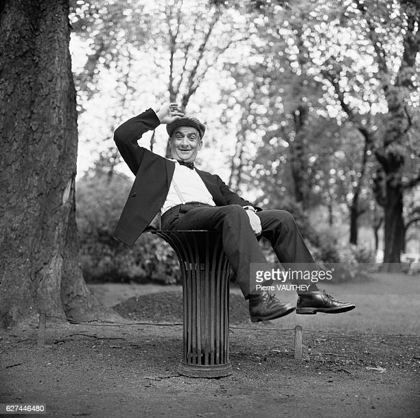Actor Louis de Funes in a Park
