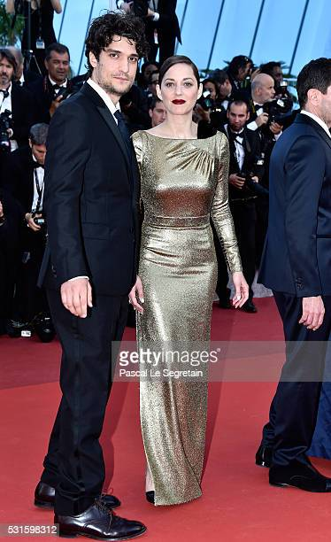 Actor Louis Garre and actress Marion Cotillard attend the 'From The Land Of The Moon ' premiere during the 69th annual Cannes Film Festival at the...