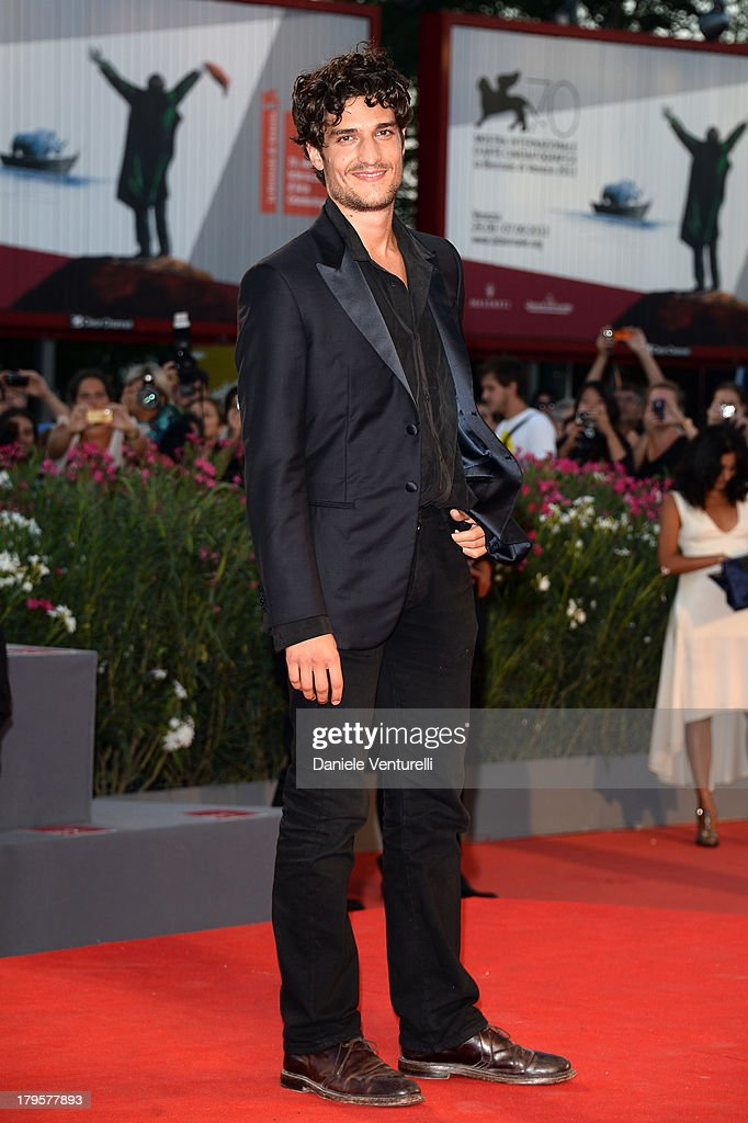 Actor <a gi-track='captionPersonalityLinkClicked' href=/galleries/search?phrase=Louis+Garrel&family=editorial&specificpeople=868484 ng-click='$event.stopPropagation()'>Louis Garrel</a> attends 'La Jalousie' Premiere during the 70th Venice International Film Festival at the Sala Grande on September 5, 2013 in Venice, Italy.