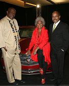 Actor Louis Gossett Jr actress Nichelle Nichols and Vice President of General Motors Edward T Welburn arrive to The Thelonious Monk Institute of Jazz...