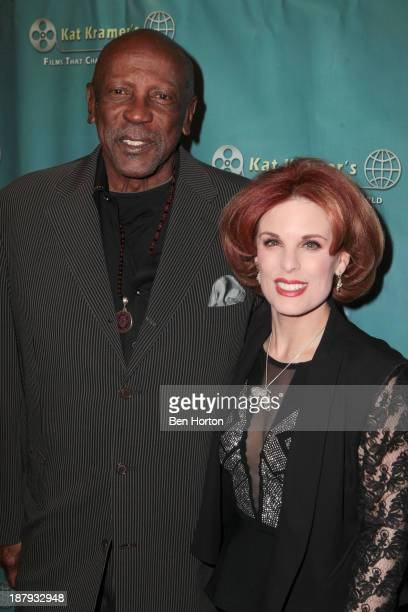 Actor Louis Gossett Jr and Kat Kramer attend Kat Kramer's Films That Change The World Film Series 5th Anniversary 'Fallout' Premiere at The Canon USA...