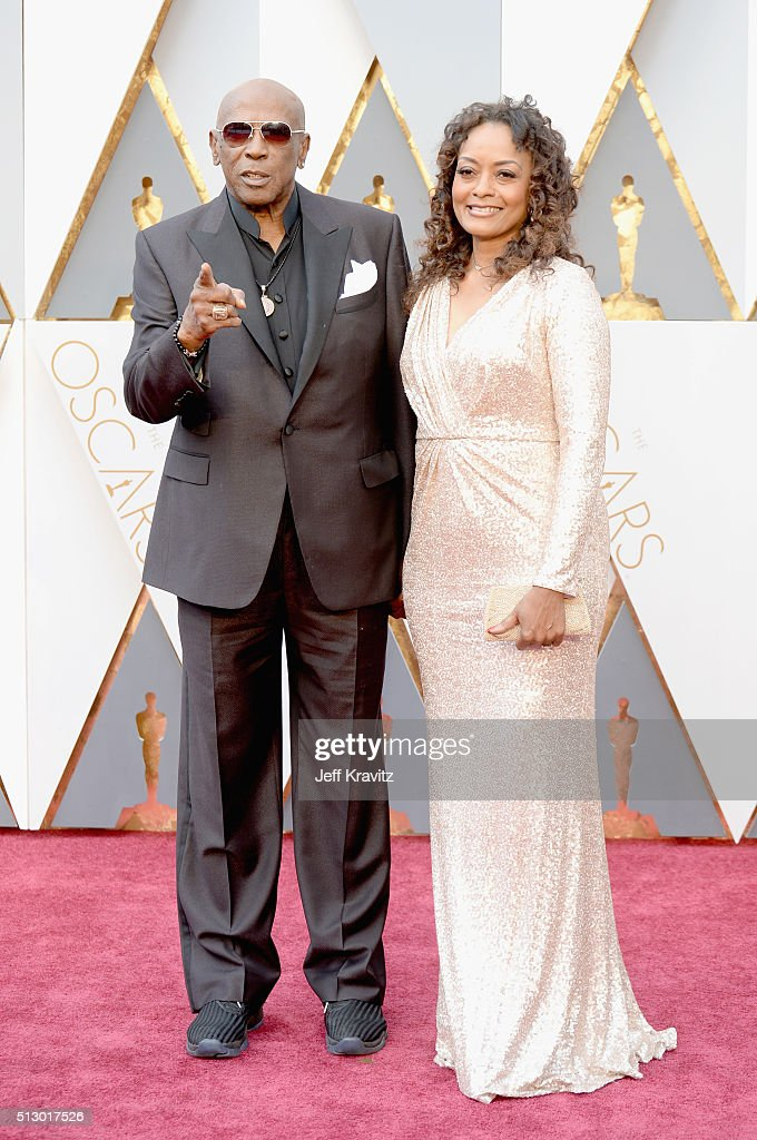 Actor Louis Gossett Jr. (L) and Shirley Neal attend the 88th Annual Academy Awards at Hollywood & Highland Center on February 28, 2016 in Hollywood, California.