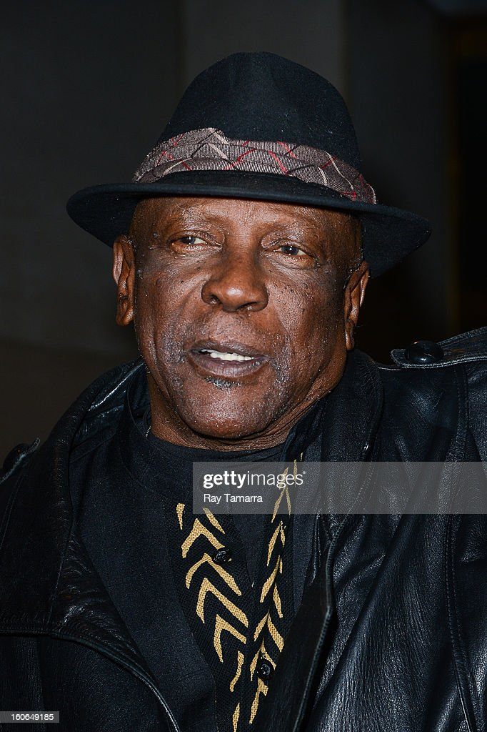Actor Louis Gossett Jr. leaves the 'Today Show' taping at the NBC Rockefeller Center Studios on February 4, 2013 in New York City.