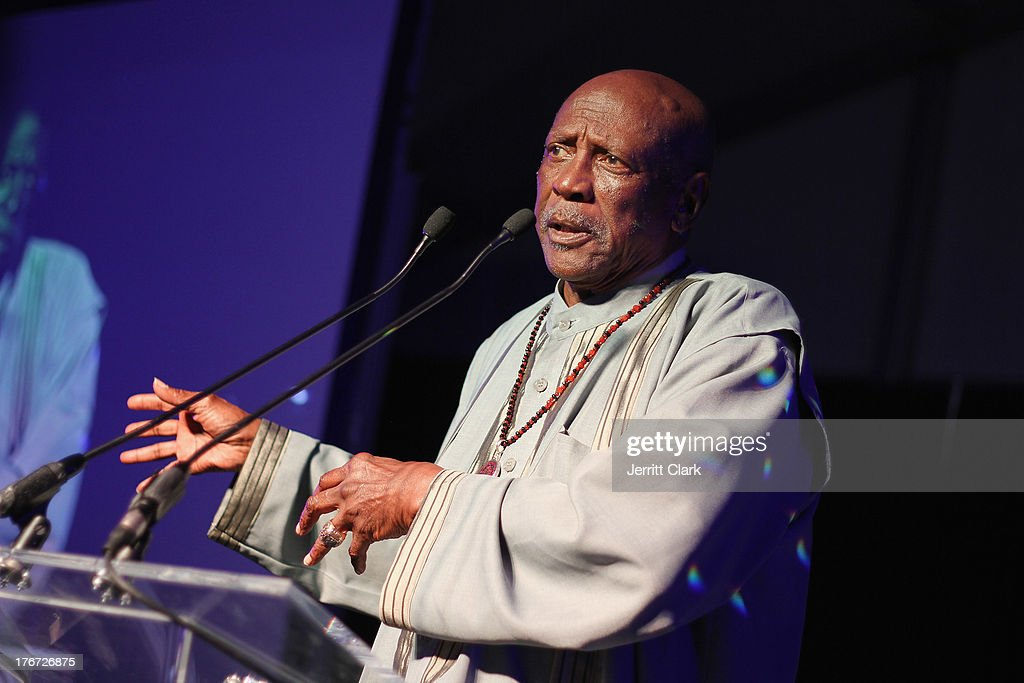 Actor Louis Gossett Jr. speaks at the 2nd annual Compound Foundation Fostering A Legacy Benefit on August 17, 2013 in East Hampton, New York.