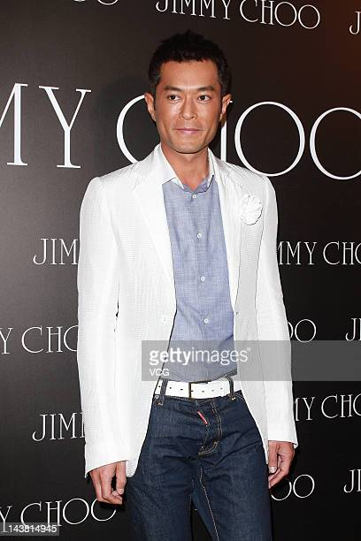 Actor Louis Koo attends Jimmy Choo store opening ceremony at the Elements on May 3 2012 in Hong Kong Hong Kong