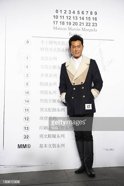 Actor Louis Koo attends Maison Martin Margiela 2012 fashion show at Sanlitun Village on October 25 2011 in Beijing China