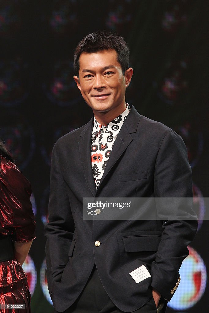 Actor Louis Koo attends 'Overheard 3' premiere at Tsinghua University on May 27, 2014 in Beijing, China.