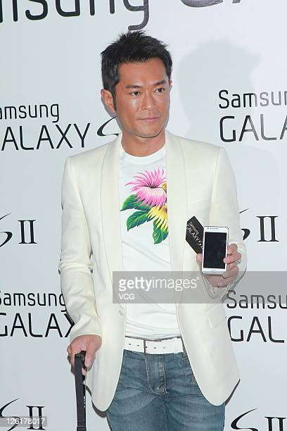 Actor Louis Koo attends Samsung GALAXY S II launch on September 22 2011 in Hong Kong China