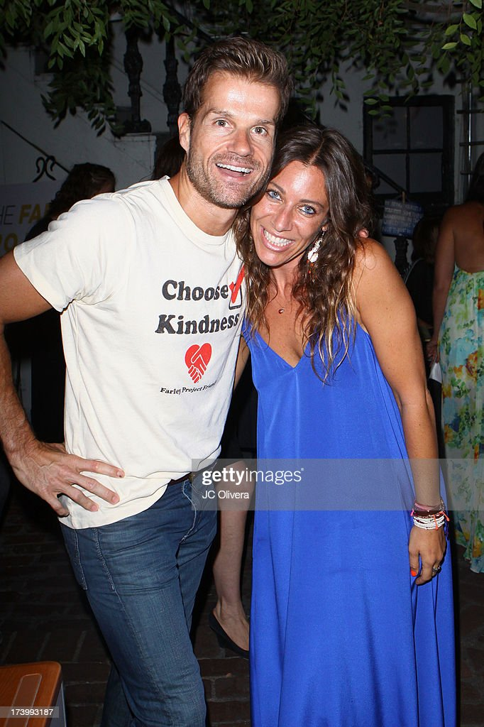 Actor <a gi-track='captionPersonalityLinkClicked' href=/galleries/search?phrase=Louis+van+Amstel&family=editorial&specificpeople=867160 ng-click='$event.stopPropagation()'>Louis van Amstel</a> (L) and The Farley Project Founder Elissa Kravetz attend The Farley Project's Summer Garden Fundraiser at Kravetz PR Offices & Courtyard on July 18, 2013 in West Hollywood, California.