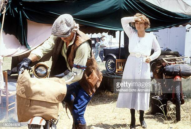 Actor LQ Jones and actress Brenda Vaccaro on set of the Universal Studios movie ' Fast Charlie the Moonbeam Rider' in 1979