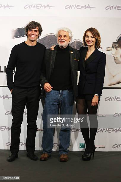 Actor Luca Argentero director Michele Placido and actress Violante Placido attend 'The Lookout' Photocall during the 7th Rome Film Festival at the...