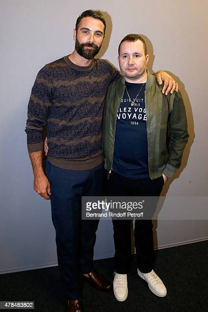Actor Luca Calvani and Fashion Designer Kim Jones pose Backstage after the Louis Vuitton Menswear Spring/Summer 2016 show as part of Paris Fashion...