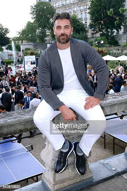 Actor Luca Calvani attends the Berluti Menswear Spring/Summer 2017 show as part of Paris Fashion Week on June 24 2016 in Paris France