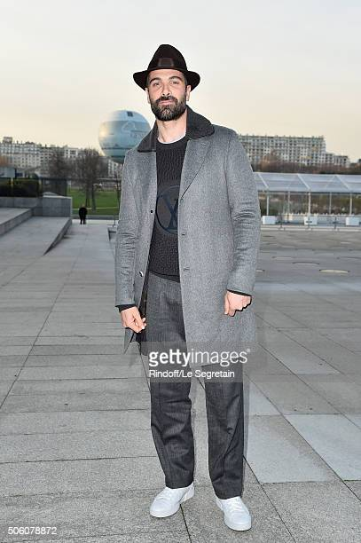 Actor Luca Calvani attends the Louis Vuitton Menswear Fall/Winter 20162017 show as part of Paris Fashion Week on January 21 2016 in Paris France