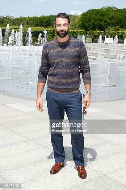 Actor Luca Calvani attends the Louis Vuitton Menswear Spring/Summer 2016 show as part of Paris Fashion Week on June 25 2015 in Paris France