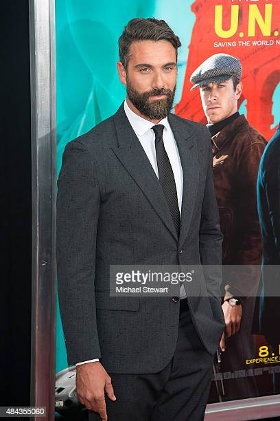 Actor Luca Calvani attends 'The Man From UNCLE' New York premiere at Ziegfeld Theater on August 10 2015 in New York City