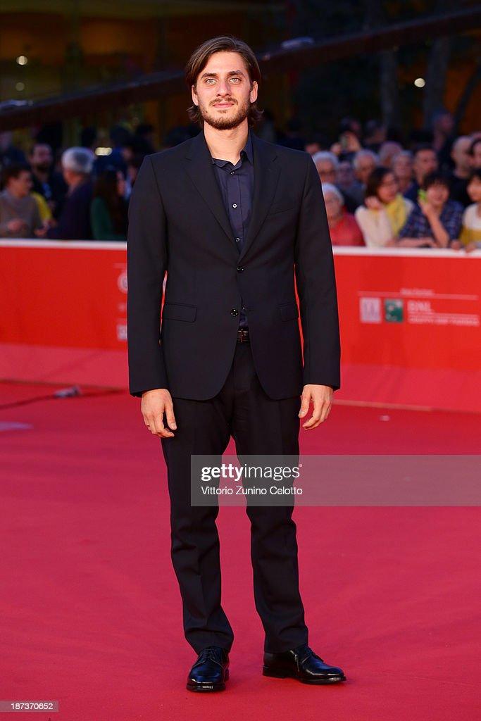 Actor Luca Marinelli attends 'Il Mondo Fino In Fondo' Premiere during The 8th Rome Film Festival at the Auditorium Parco Della Musica on November 8, 2013 in Rome, Italy.