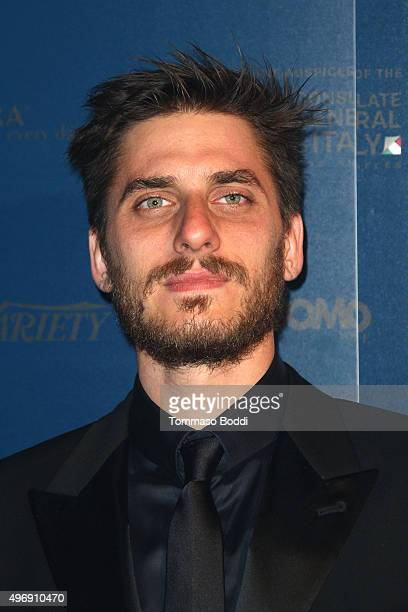 Actor Luca Marinelli attends the 11th Cinema Italian Style opening night screening of 'Don't Be Bad' held at the Egyptian Theatre on November 12 2015...