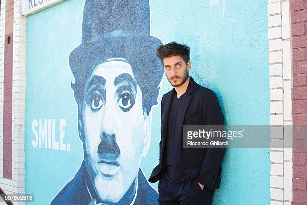 Actor Luca Marinelli is photographed for Self Assignment on November 11 2015 in Los Angeles United States