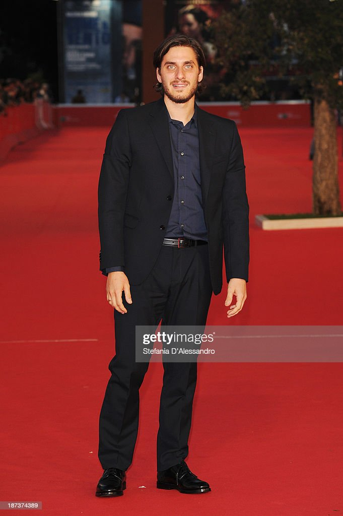 Actor <a gi-track='captionPersonalityLinkClicked' href=/galleries/search?phrase=Luca+Marinelli&family=editorial&specificpeople=7179366 ng-click='$event.stopPropagation()'>Luca Marinelli</a>attends 'Il Mondo Fino In Fondo' Premiere during The 8th Rome Film Festival on November 8, 2013 in Rome, Italy.