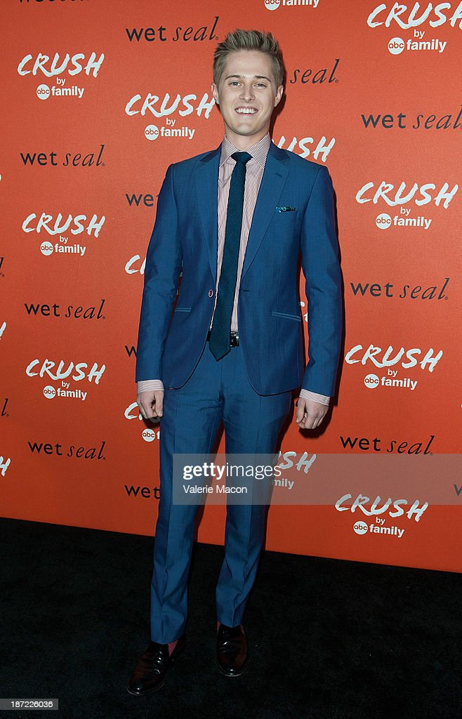 Actor <a gi-track='captionPersonalityLinkClicked' href=/galleries/search?phrase=Lucas+Grabeel&family=editorial&specificpeople=651906 ng-click='$event.stopPropagation()'>Lucas Grabeel</a> arrives at the Launch Celebration Of Crush By ABC Family at The London Hotel on November 6, 2013 in West Hollywood, California.