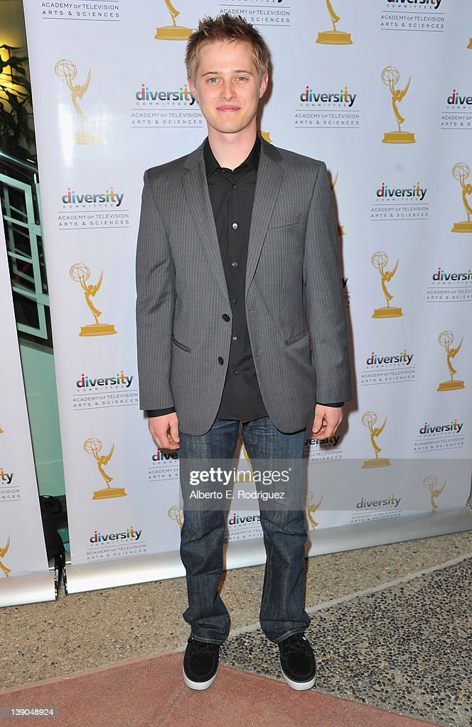 Actor Lucas Grabeel arrives to The Academy of Television Arts Sciences Diversity Committee and ABC Family Presents 'Switched at Birth' at Television...