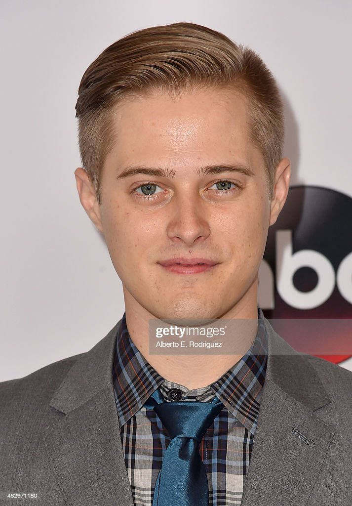 Actor Lucas Grabeel attends Disney ABC Television Group's 2015 TCA Summer Press Tour at the Beverly Hilton Hotel on August 4 2015 in Beverly Hills...