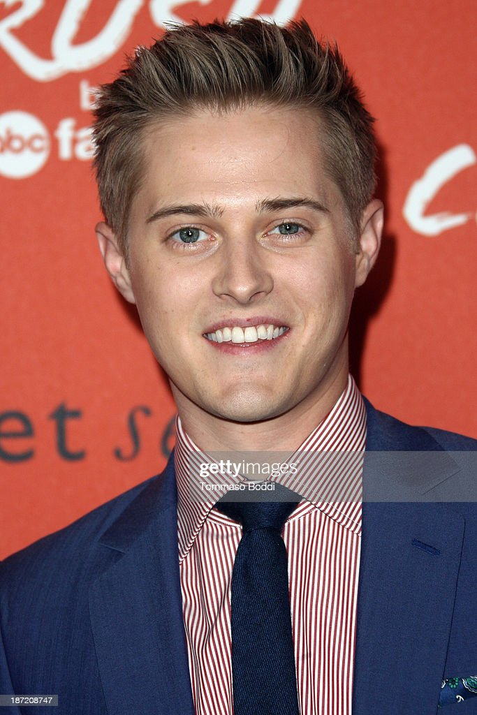 Actor <a gi-track='captionPersonalityLinkClicked' href=/galleries/search?phrase=Lucas+Grabeel&family=editorial&specificpeople=651906 ng-click='$event.stopPropagation()'>Lucas Grabeel</a> attends the 'Crush' By ABC Family Fashion launch held at The London Hotel on November 6, 2013 in West Hollywood, California.