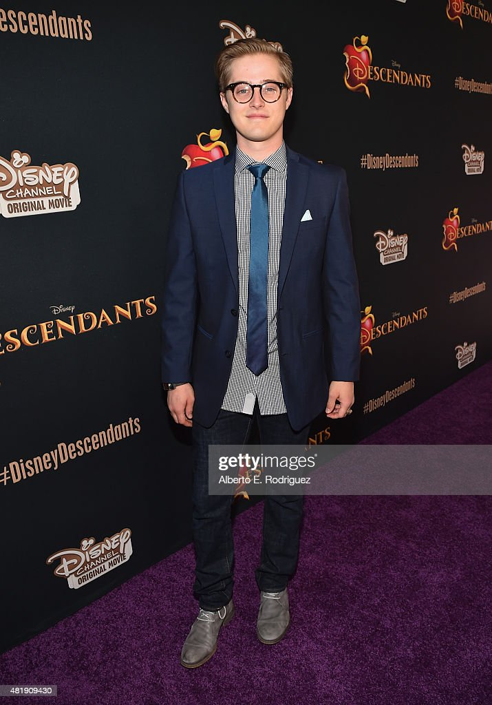 Actor Lucas Grabeel attends the premiere of Disney Channel's 'Descendants' at Walt Disney Studios on July 24 2015 in Burbank California
